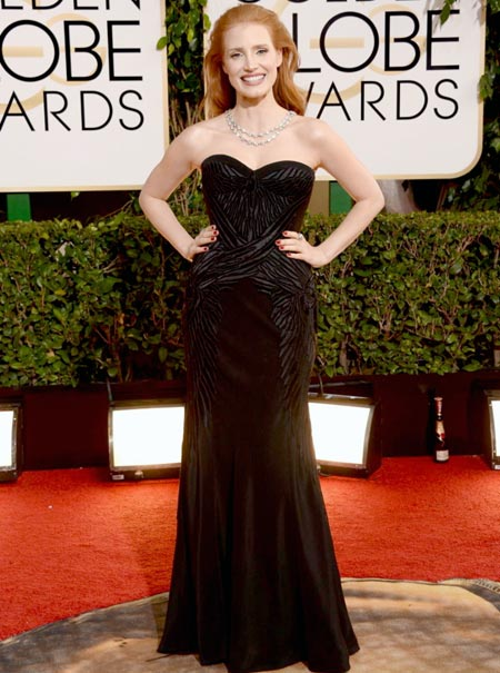 jessica-chastain-golden-globes-red-carpet-2014